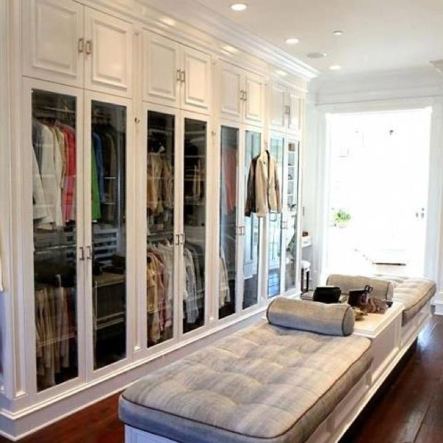 Master Bedroom Closet Ideas: See Through Closet Doors