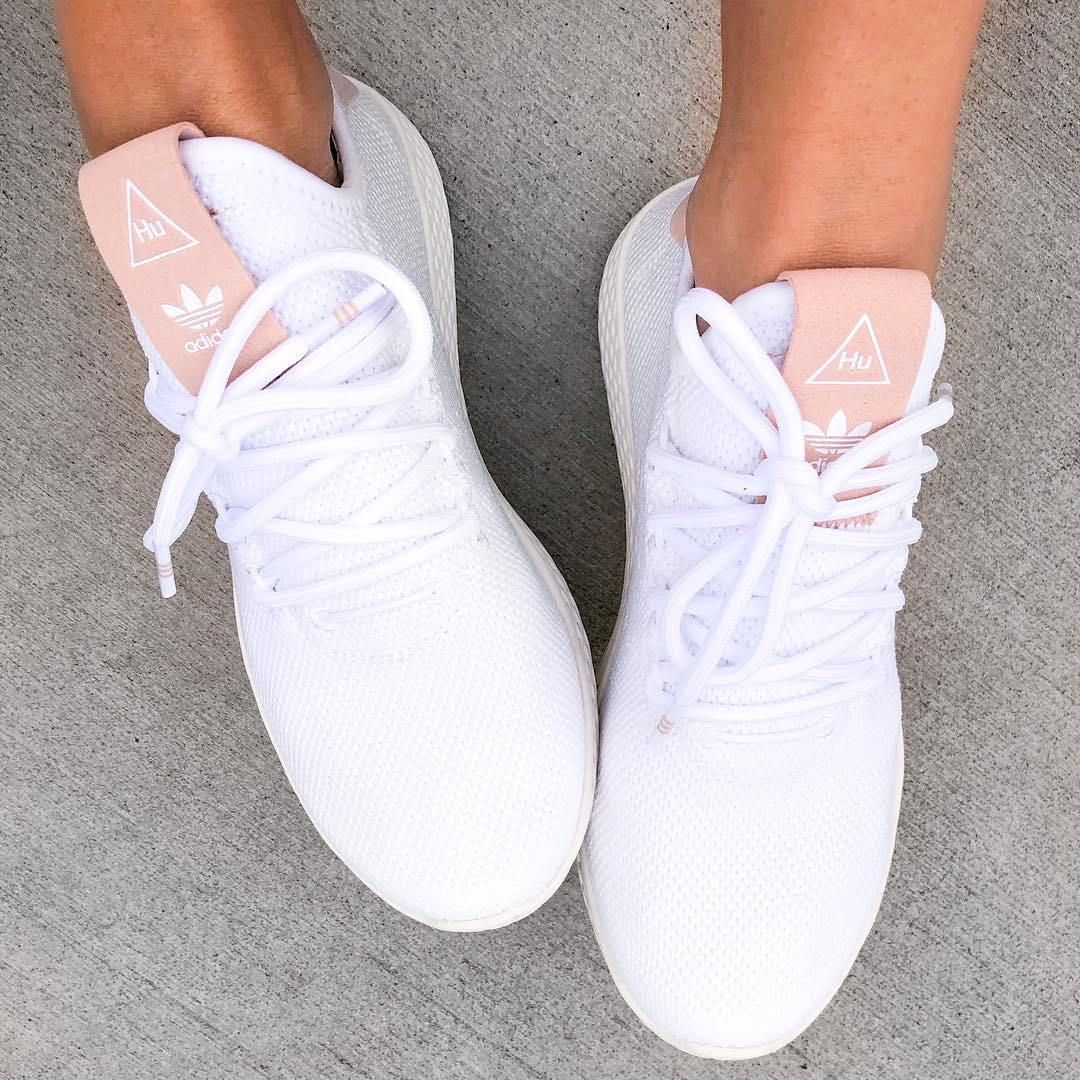 Adidas Originals Pharrell Williams Tennis Hu Pink Rematch Sneakers Fashion Adidas Shoes Women Tennis Shoes Outfit