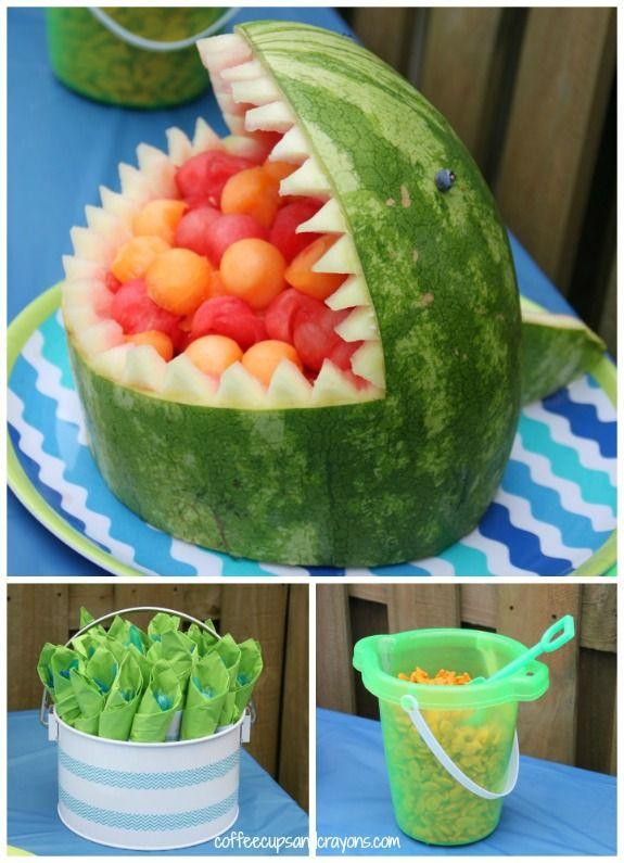 Surfer and Shark Party | Life's a beach! | Shark party, Luau