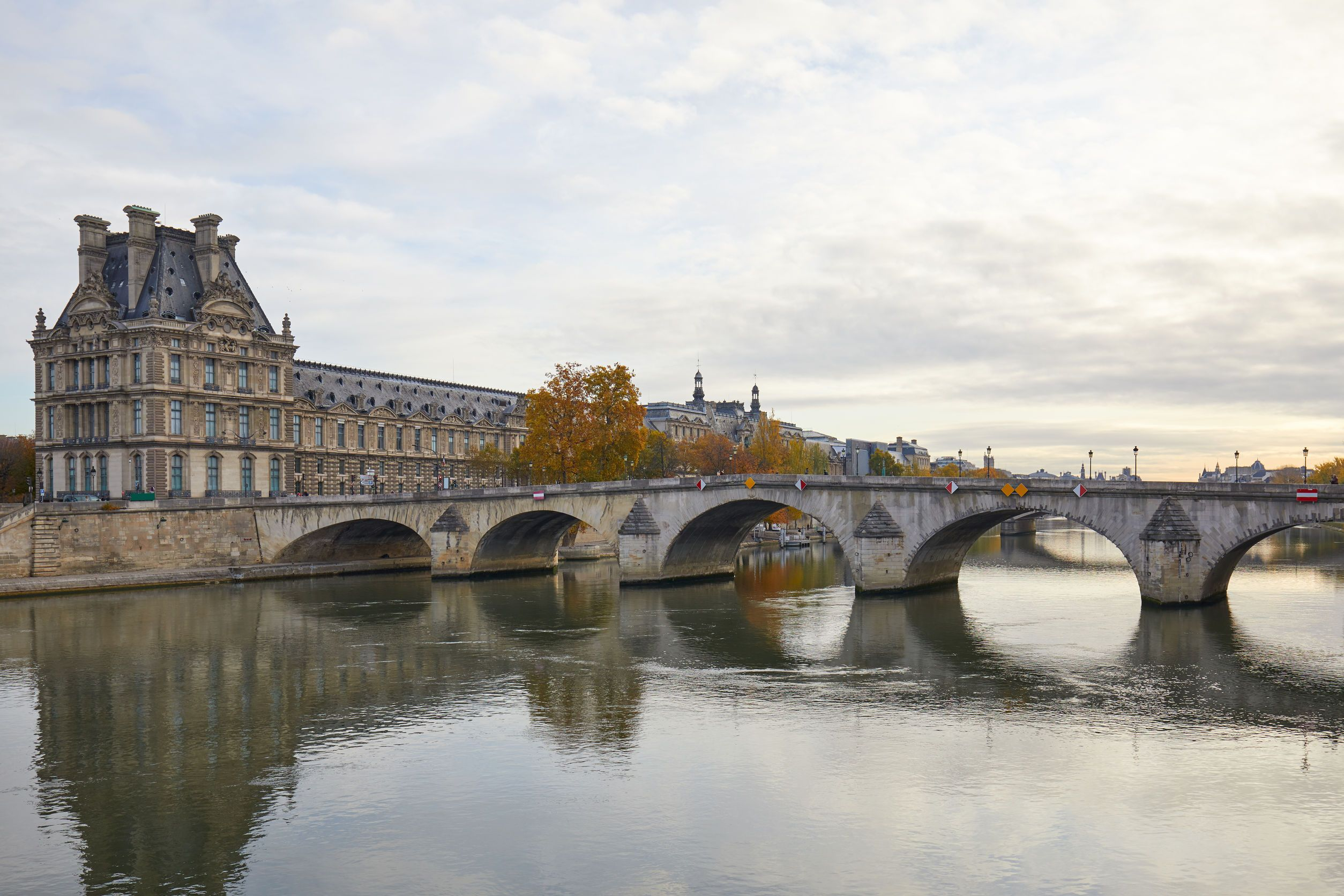 Famous museums and attractions like the louvre are