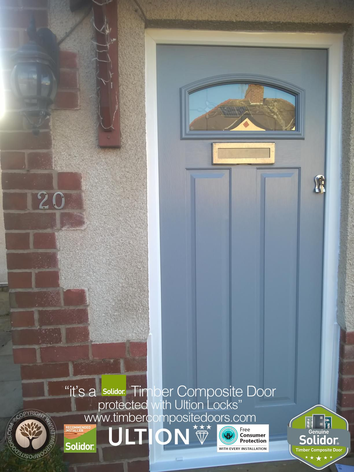 French Grey London copy Solidor Timber Composite Door | Solidor ...