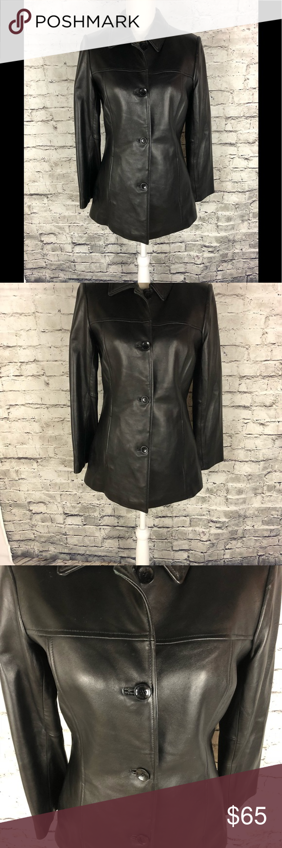 Women's Small Wilson Leather Pelle Studio Jacket Beautiful