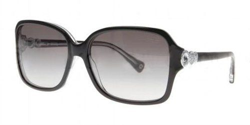 38790f2625c9b Coach HC8009 5048  11 L020 Frances Black Plastic Sunglasses  Coach ...