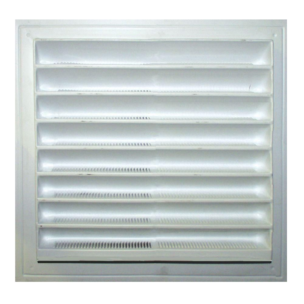 Master Flow 12 In X 12 In Plastic Wall Louver Static Vent In White Sl12x12 Wall Vents Gable Vents White Walls