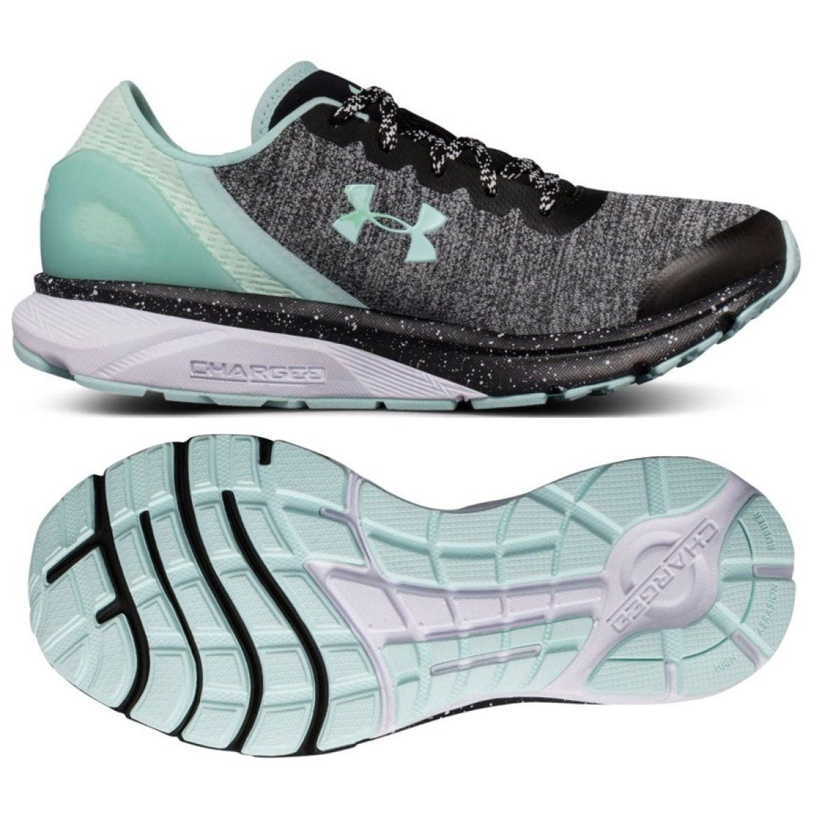 Buty Biegowe Under Armour Charged Escape W 3020005 002 Wielokolorowe Szare Under Armor Under Armour Running Shoes