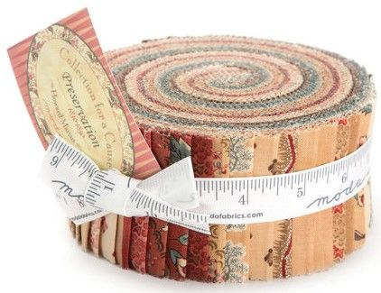 "Collections For A cause - Preservation - designed by Howard Marcus for Moda...  Each Jelly Roll includes 40 - 2 1/2"" strips of fabric..."