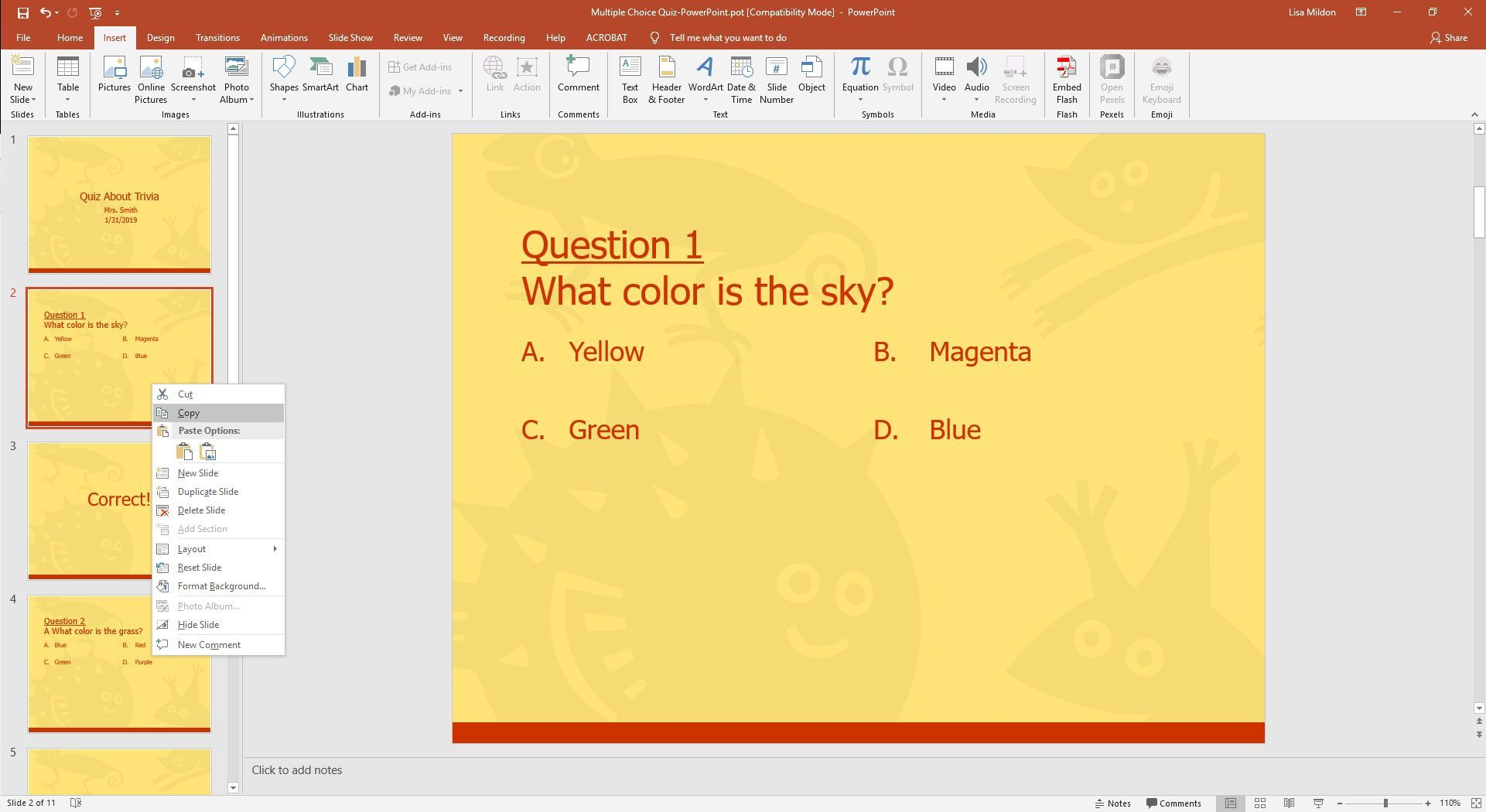 Powerpoint Template For A Multiple Choice Quiz Regarding Powerpoint Quiz Template Free Download Best Powerpoint Quiz Template Powerpoint Templates Powerpoint