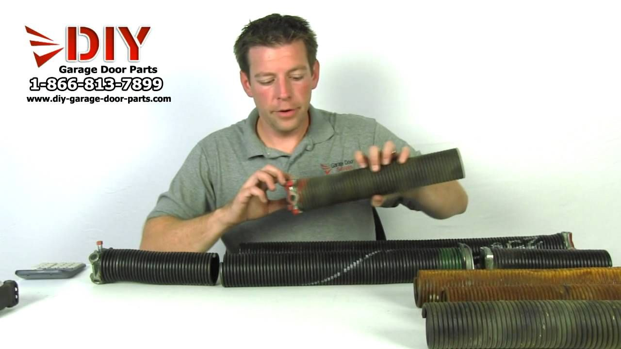 How to measure a garage door torsion spring to order