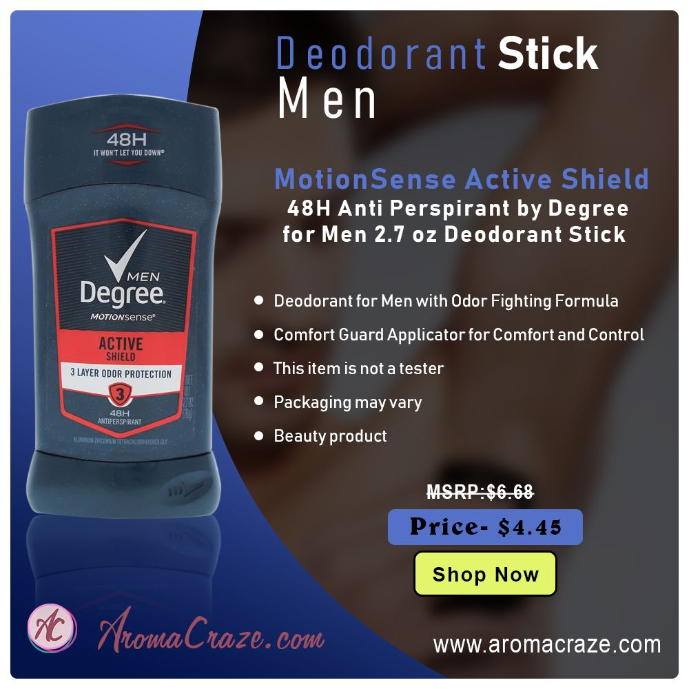 Motionsense Active Shield 48h Anti Perspirant By Degree For Men