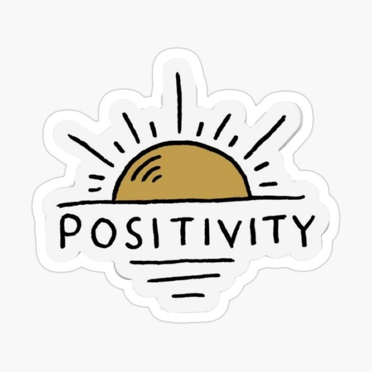 'Positive sun' Glossy Sticker by mercedesmora12