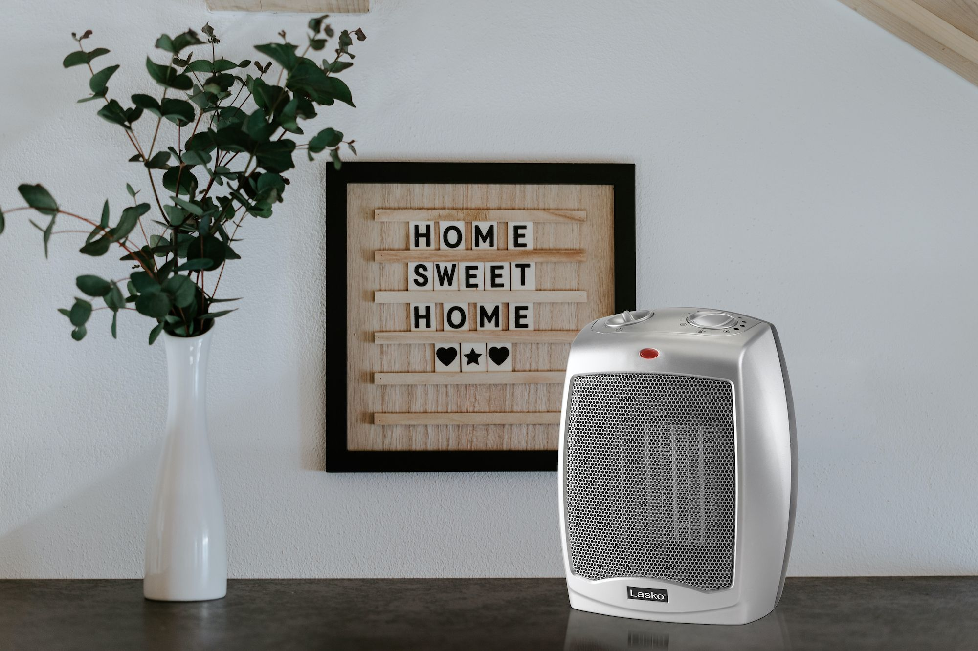 Ceramic Space Heater With Adjustable Thermostat Lasko Space Heater Heater Lasko