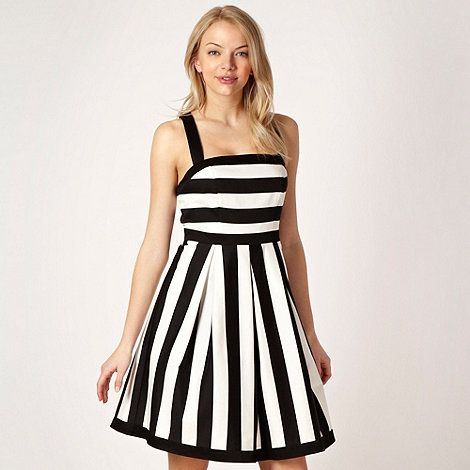Red herring black and white maxi dress