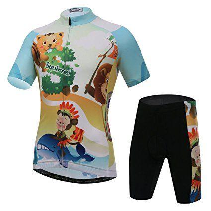 L PATTERN Short Sleeve Children Kids Boys Cycling Jersey Set Top//Pants//Shorts//Bibs 3D Padded Shorts