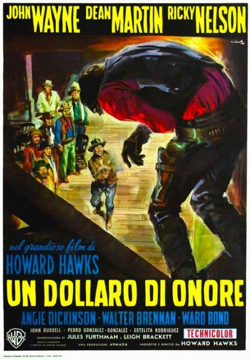 """""""Rio Bravo"""" (1959) - Italian movie poster."""