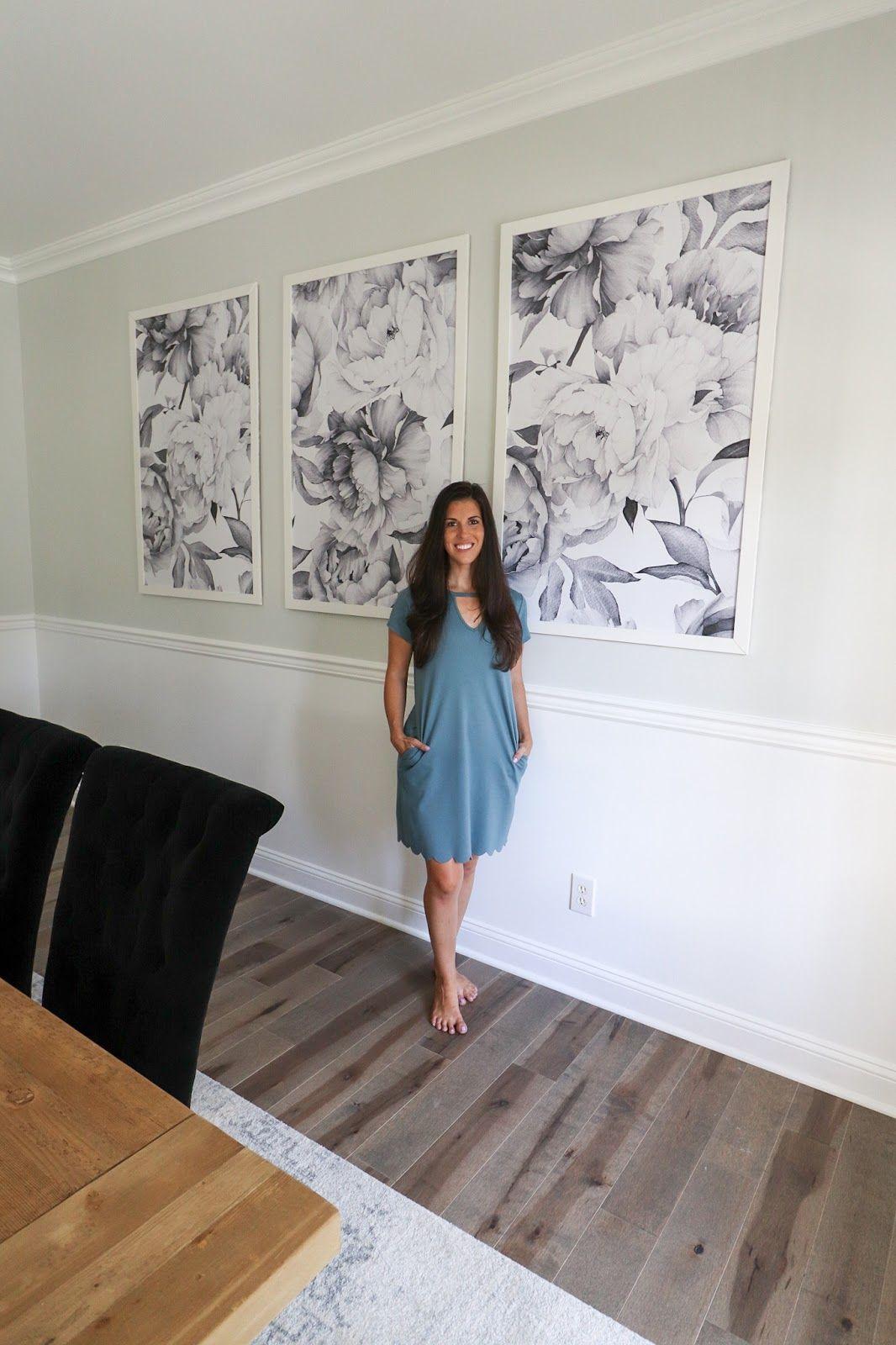 DIY Framed Wallpaper Panels Family room walls, Framed