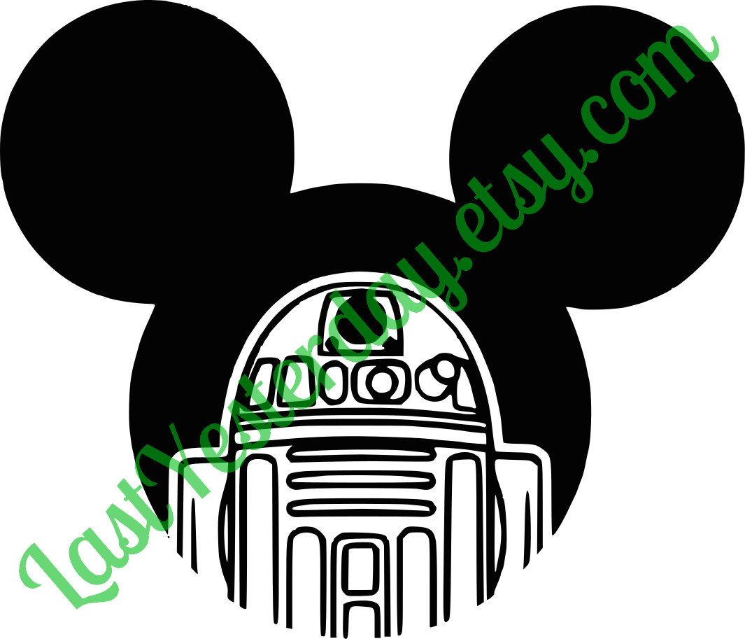 R2D2 Mickey Head DIGITAL DOWNLOAD svg jpg png by LastYesterday on Etsy
