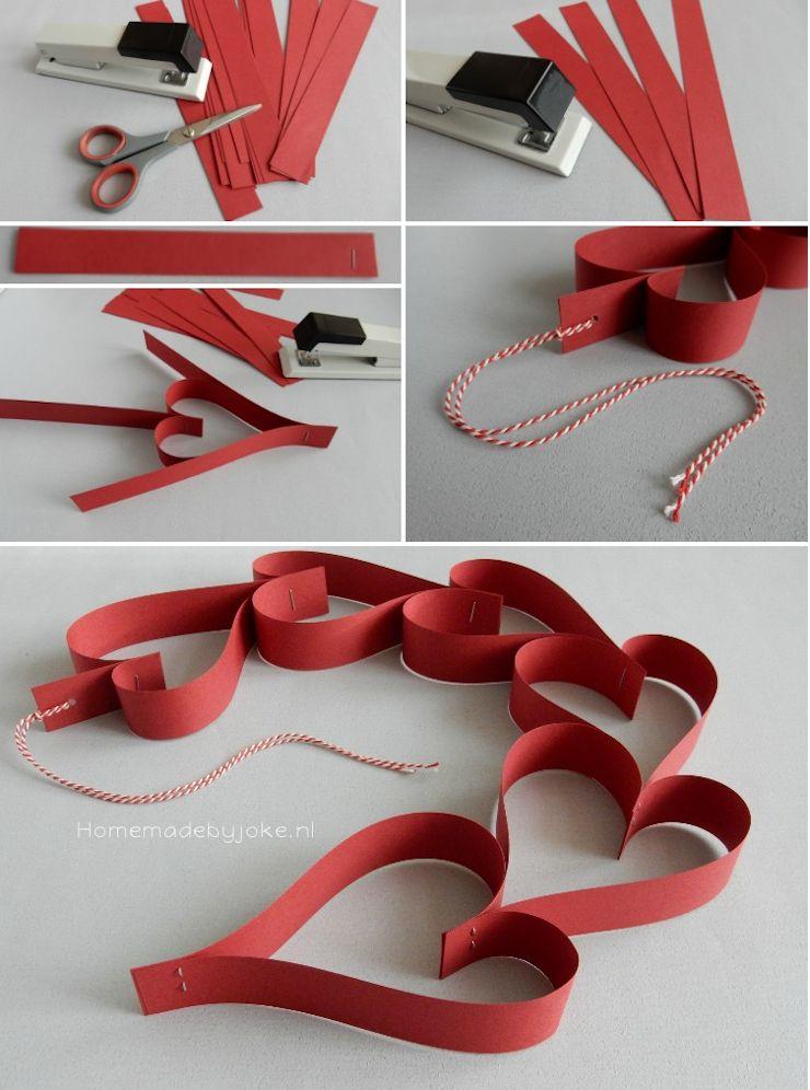 Valentijn hartjes slingers - Homemade by Joke