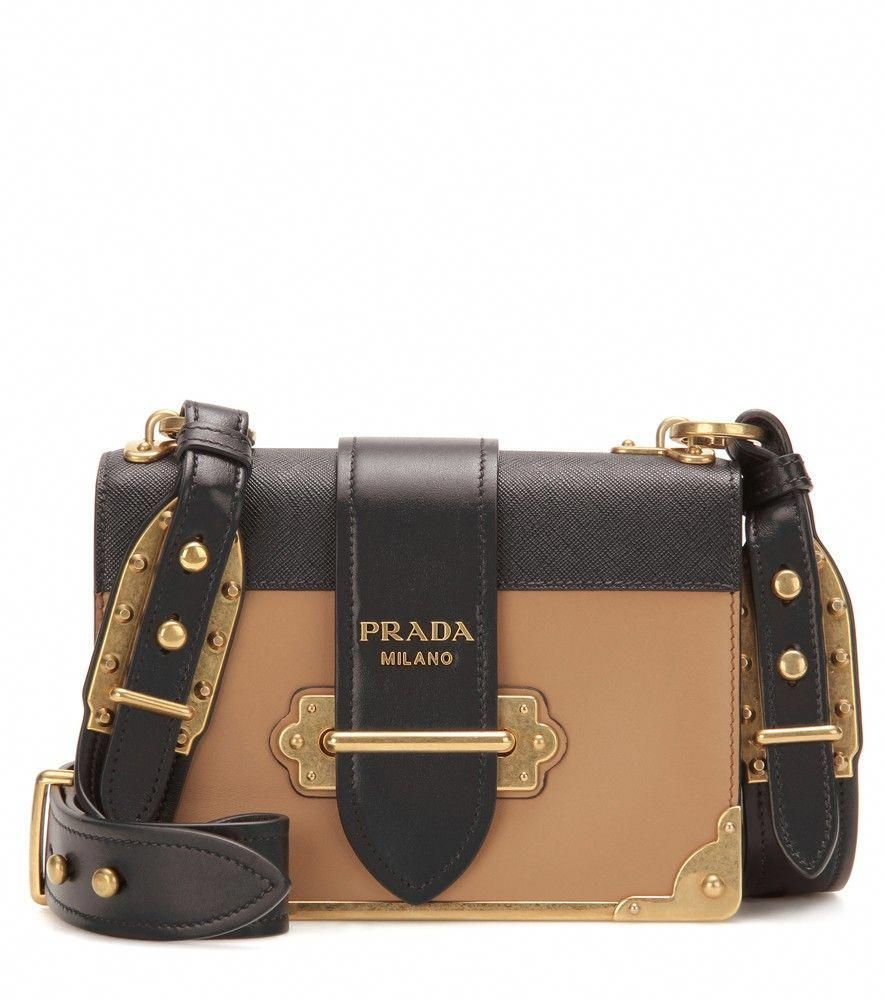 a8b78e09a2d1 Prada - Cahier embellished leather shoulder bag - Opt for an instant icon  with Prada's Cahier leather shoulder bag. This charming piece is inspired  by the ...