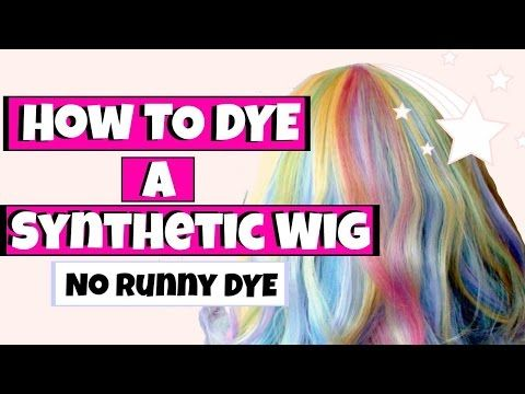 How To Dye A Synthetic Wig Diy Unbelievably Human Youtube Synthetic Wigs Diy Wig Diy Doll Hair