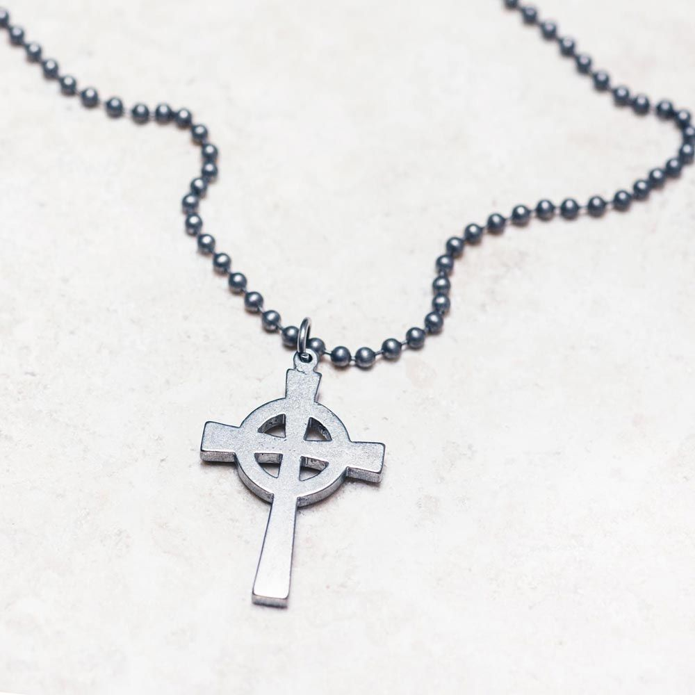 Mens Military Cross Necklace