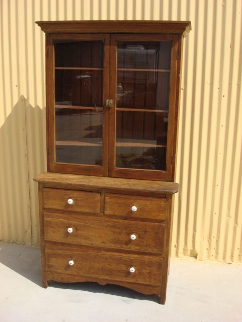 American Antique Primitive Country Cabinet Antique Hutch Cabinet Antique  Cupboard - American Antique Primitive Country Cabinet Antique Hutch Cabinet