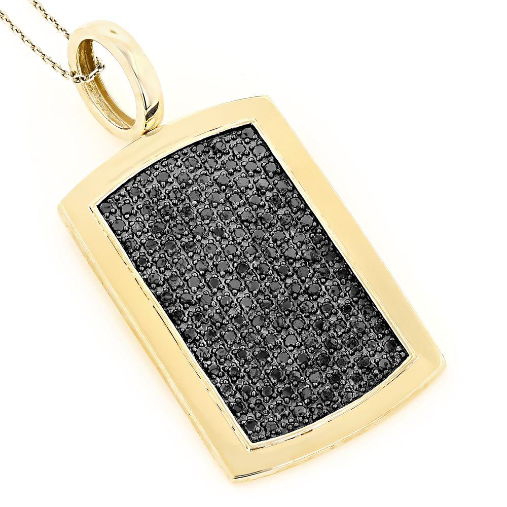 14k solid gold dog tag pendant with black diamonds 325 solid 14k solid gold dog tag pendant with black diamonds 325 aloadofball Choice Image