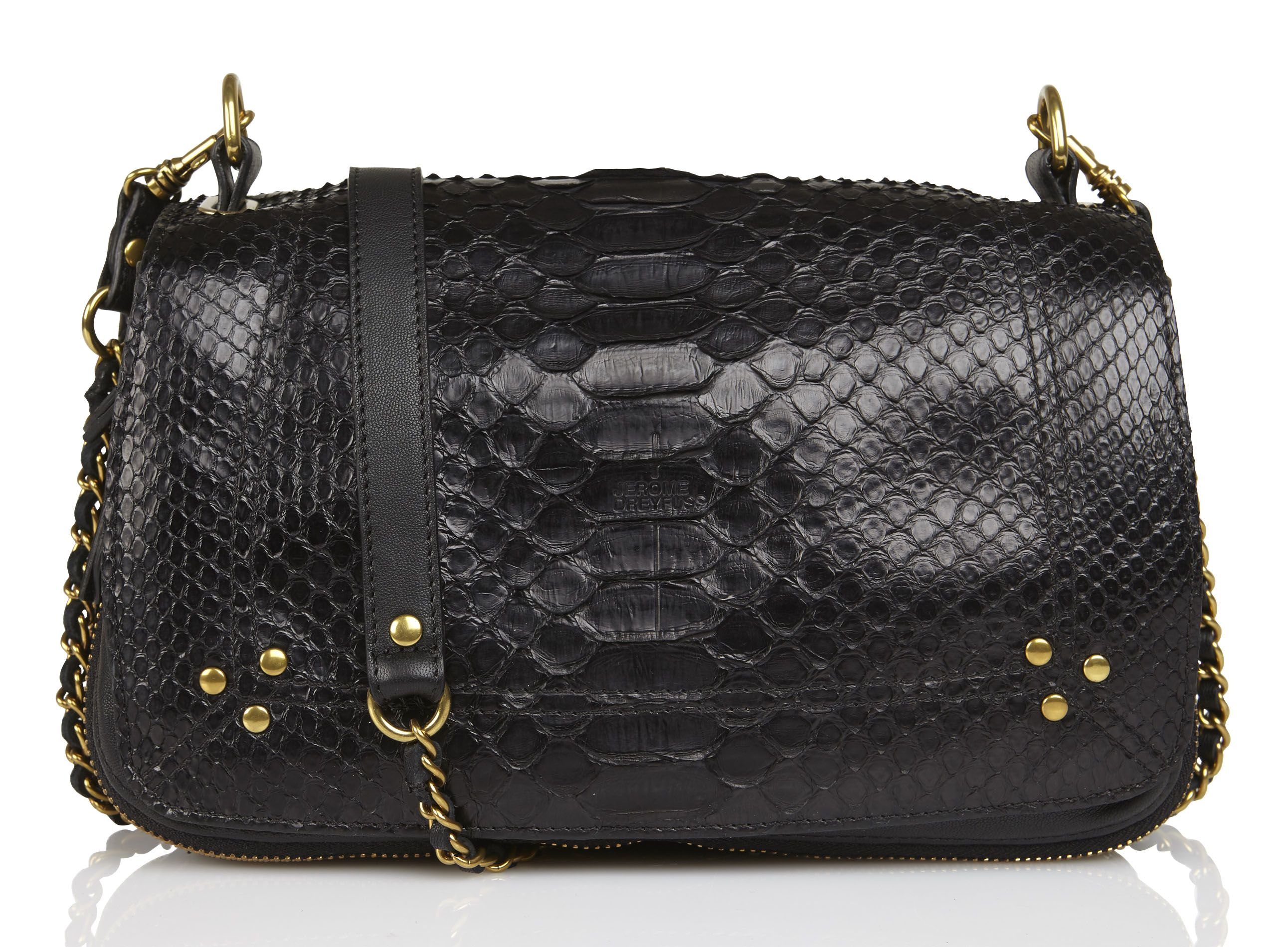 6fc6f2a5b450 Sac Bobi Python Noir by JEROME DREYFUSS   Fashion Schmashion   Bags ...