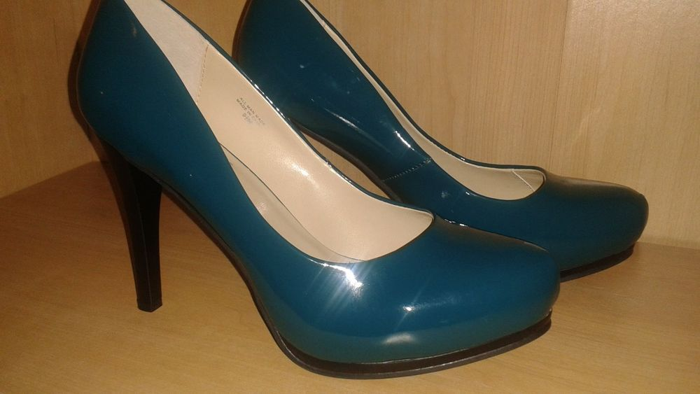 TYPE Z  TEAL PATENT PLATFORM PUMPS. 9.5M  #TYPEZ #PumpsClassics