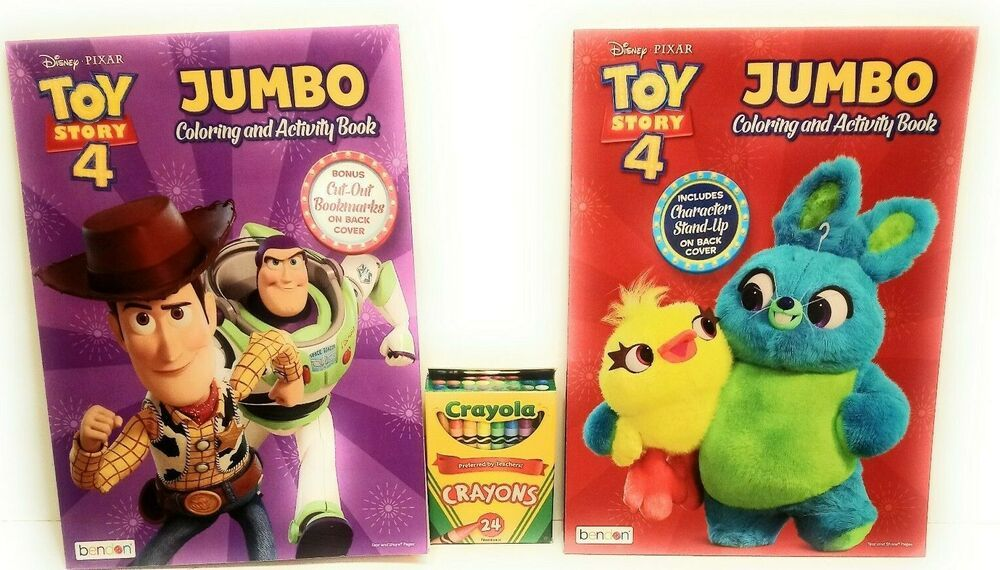 2 Colo Coloring Book Crayons Jumbo Activity Toy Story 4 Favorite Characters Jumbo Activity Toys Favorite Character Coloring Books
