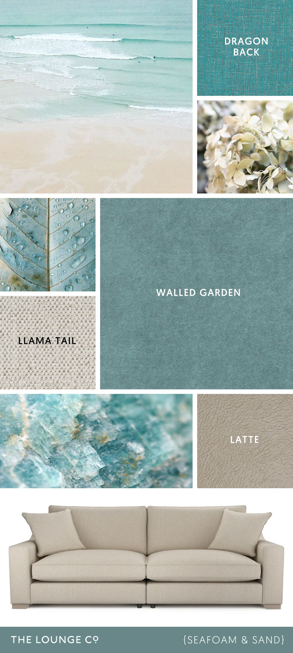 Colour Combinations Seafoam & Sand For a summery tonal