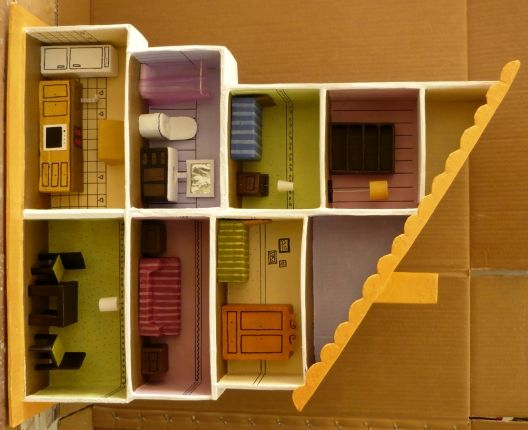 making barbie doll furniture. dollhouse furniture out of cardboard glue papermache doll house is boxes making barbie
