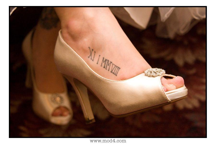 roman numeral important date foot tattoo tattoo ideas