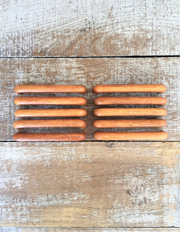 Drawer Handles 10 Drawer Pulls Mid Century Wood Handles ...