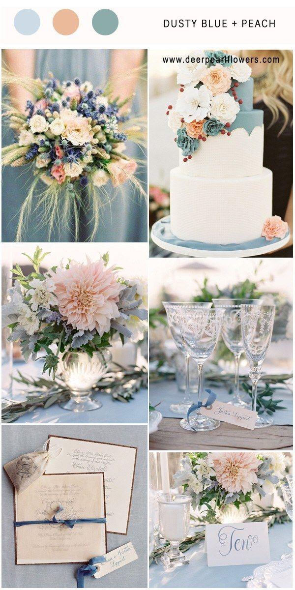 Top 7 Dusty Blue Hochzeit Farbkombinationen für 2019  - Wedding - #Blue #Dusty #Farbkombinationen #für #Hochzeit #Top #Wedding #peachideas