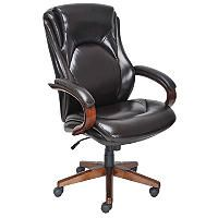Lane Big Tall Bonded Leather Executive Chair Chocolate Brown