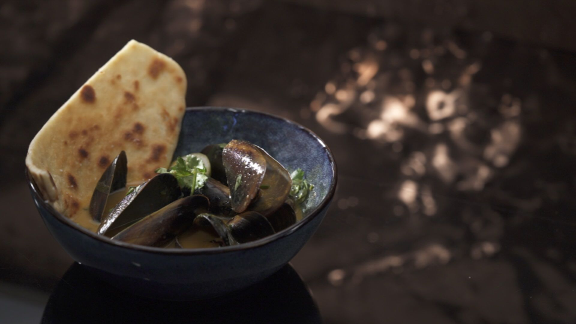 Coconut Curry Mussels with Flatbread | My Kitchen Rules #kitchenrules