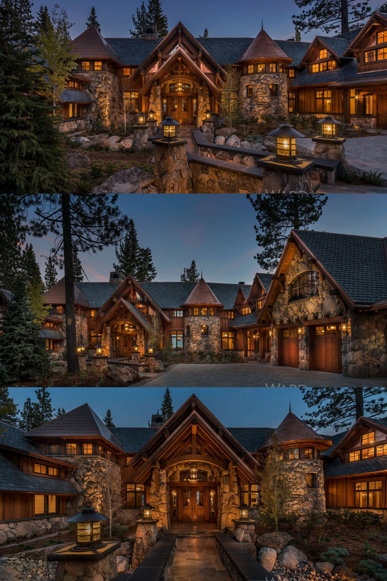 Traditional Style Mountain Home Overlooking Lake Tahoe Luxury Realestate California Laketahoe Mountain Dream Homes Dream House Exterior Mansions