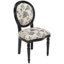 Medallion Collection Armless Oval Back Side Chair