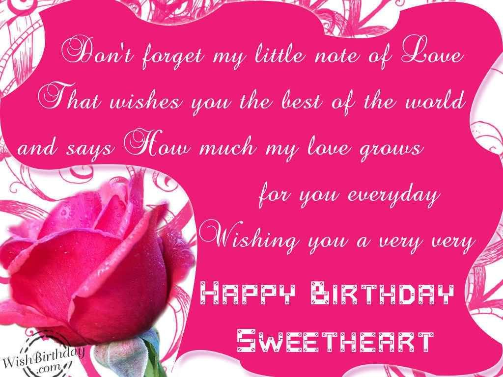 Lovely wishing you a very happy birthday sweetheart birthday quote lovely wishing you a very happy birthday sweetheart kristyandbryce Images