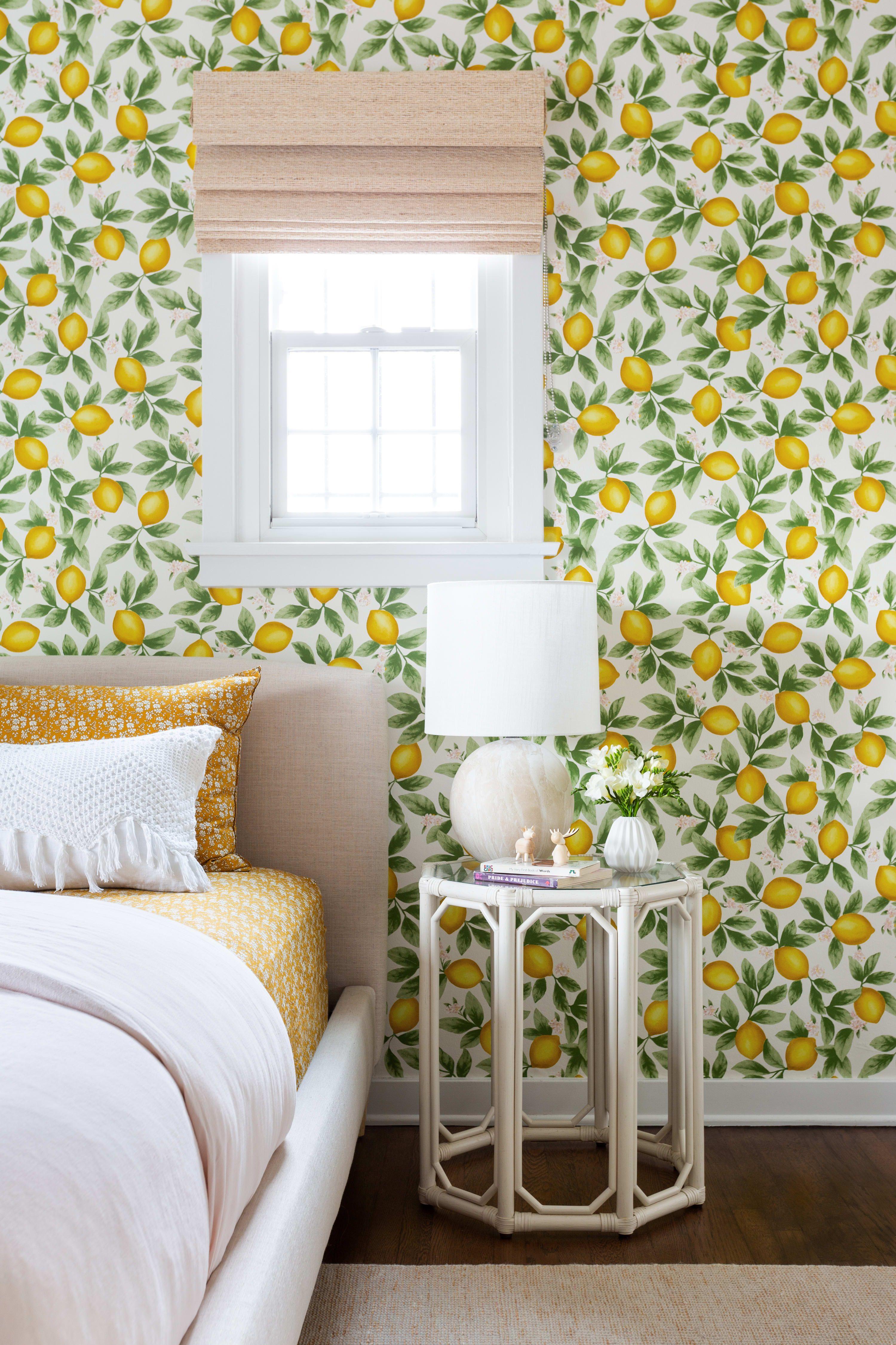 Lulu And Georgia Lemon Wallpaper