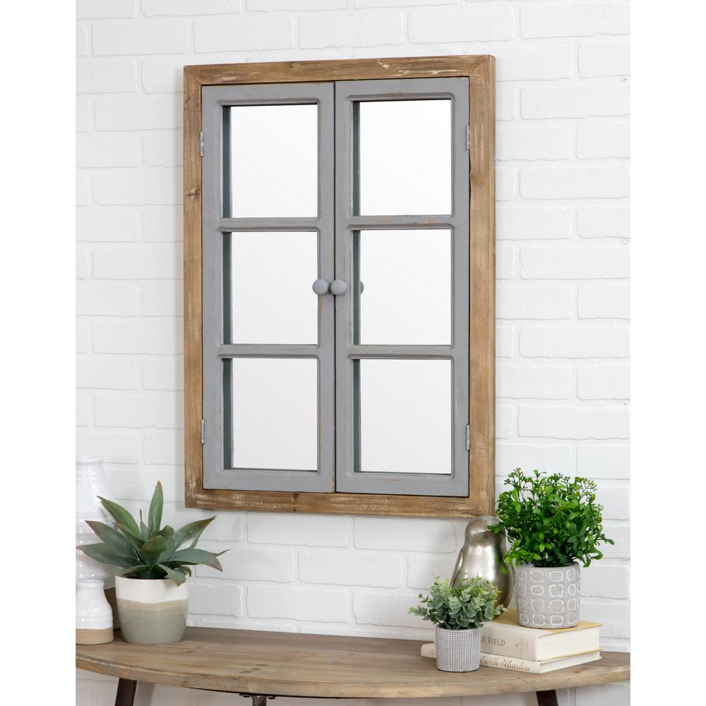 Aspire Home Accents Somerset Window Pane Wall Mirror Farmhouse