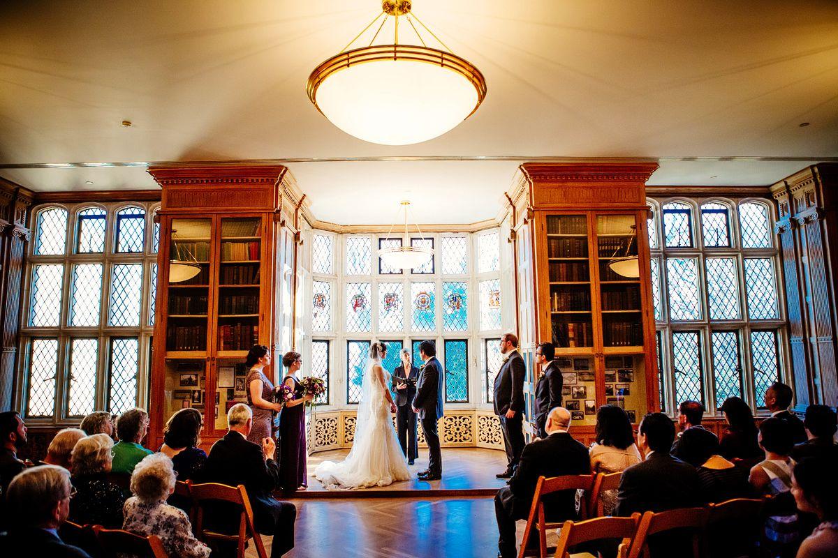 Wedding Ceremony At The Thornhill Room In Morton Arboretum