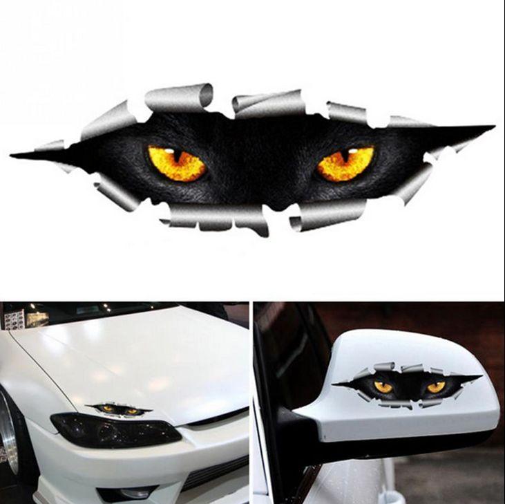 2pcs high quality peeking monster scary eyes car sticker