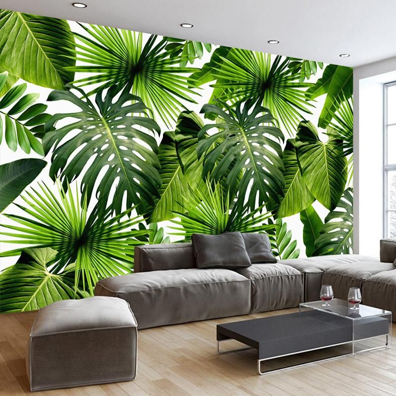Useful Nordic Style Banana Leaf Wallpaper Bedroom Living Room Tv Sofa Background Wall Covering 3d Non-woven Paper Wallpapers Home Decor Wallpapers