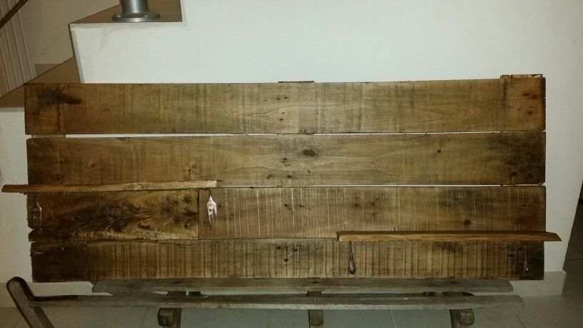 Made this Shelf with Upcycled Pallet Wood with desert ...