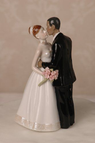 Porcelain Interracial Bi racial Wedding Cake Topper Ethni