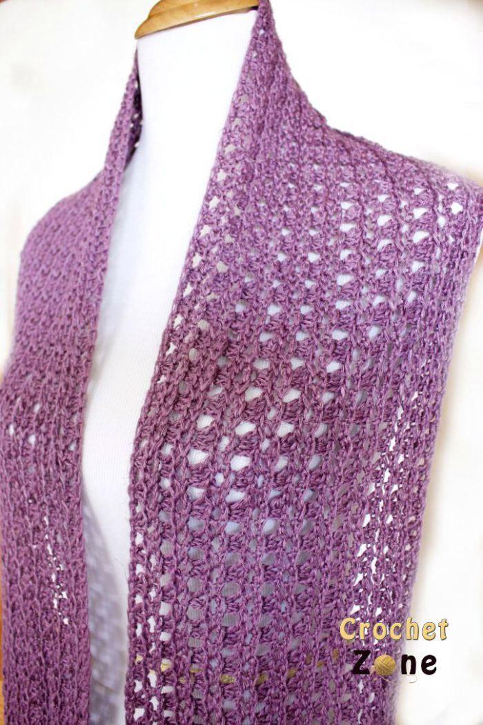 Free Crochet Pattern Eve Scarf by Crochet Zone | szydełko ...