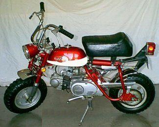 1970 71 Honda Z50ak2 Mini Bike Honda Bikes Honda