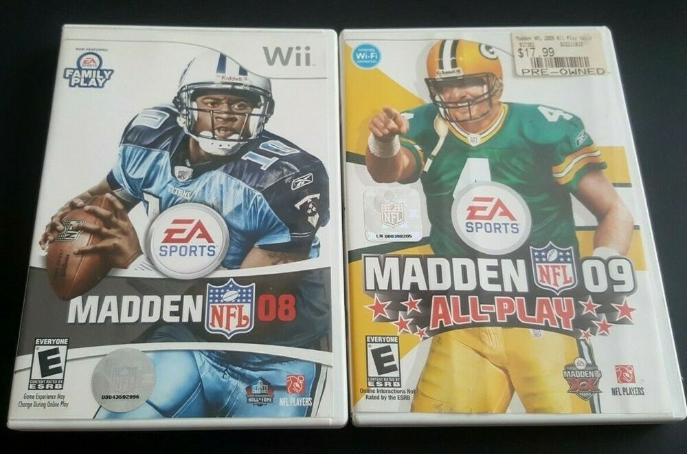 2 Nintendo Wii Games Complete MADDEN 08 and 09 2 Great
