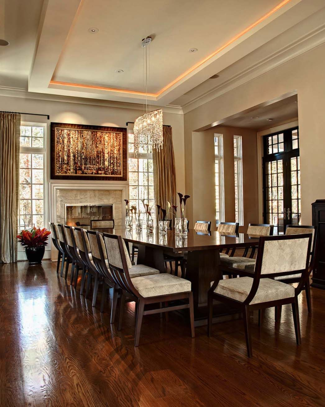 Magnificent Chancellor S Residence In North Carolina By Rufty Homes Large Dining Room Table Elegant Dining Room Large Dining Table